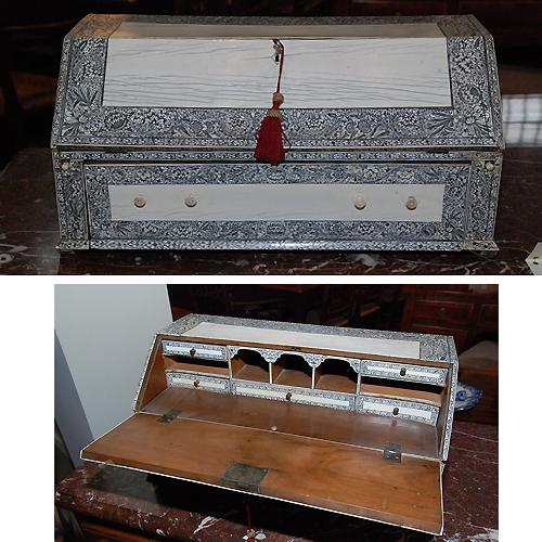 A 19th Century English Anglo-Indian Bone Miniature Desk No. 416