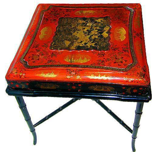 A 19th Century Regency Chinoiserie Hinged Wedding Box 2148