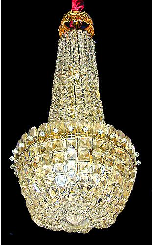 A 19th Century Crystal Hall Chandelier No. 865