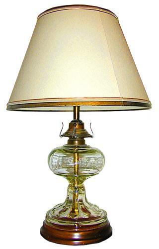 A 19th Century Glass Oil Lamp No. 1246