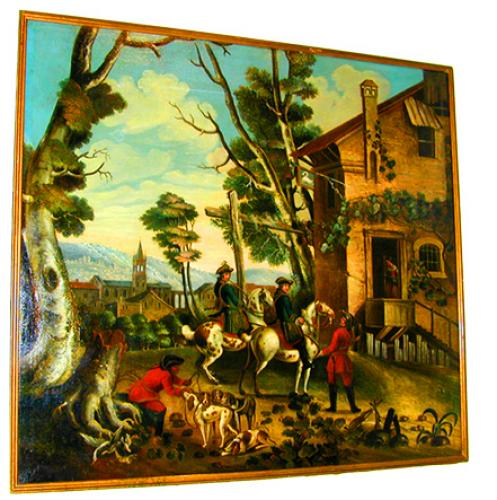 An 18th Century English Oil on Canvas, Scenes of an English Landscape No. 1440