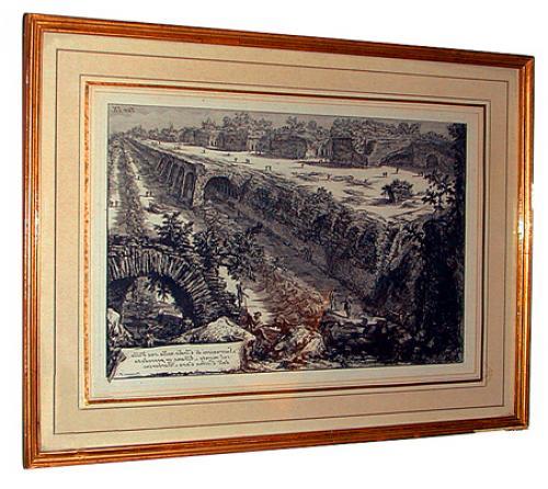A 19th Century Italian Etching of Aqueduct No. 408