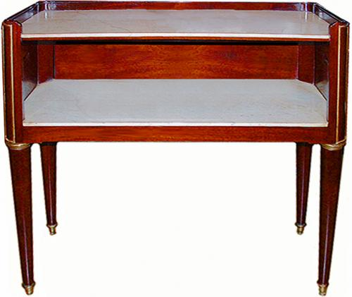 An Understated 18th Century Mahogany Directoire Desert Servante No. 2469