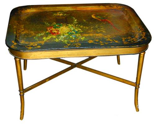 A 19th Century English Polychrome Tray Table No. 2077