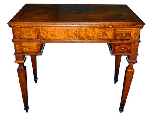An 18th Century Italian Inlaid Writing or Dressing Table No. 2027
