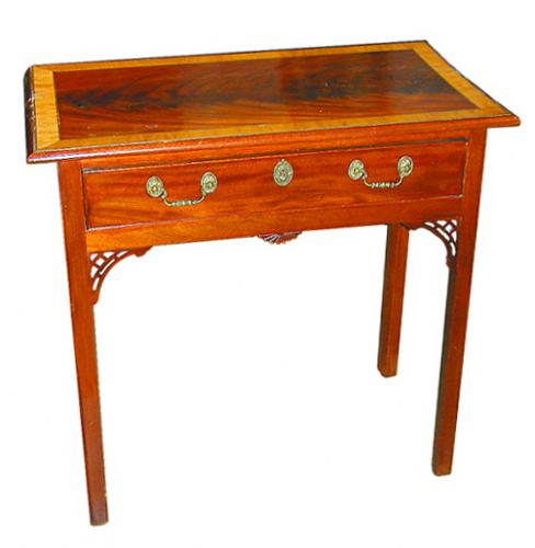 A 19th Century English Regency Mahogany One-Drawer Side Table No. 607