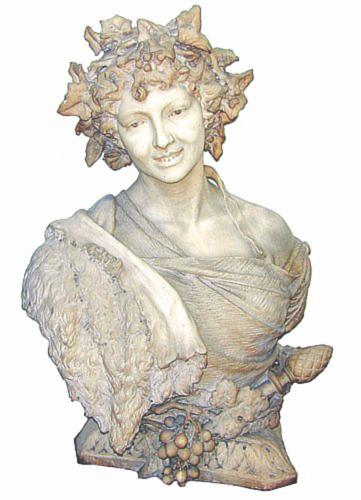 A 19th Century Italian White Marble Bust of a Bacchante No. 1473