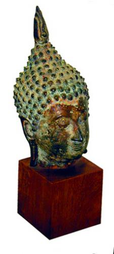 A Bronze Thai Buddha Head No. 243