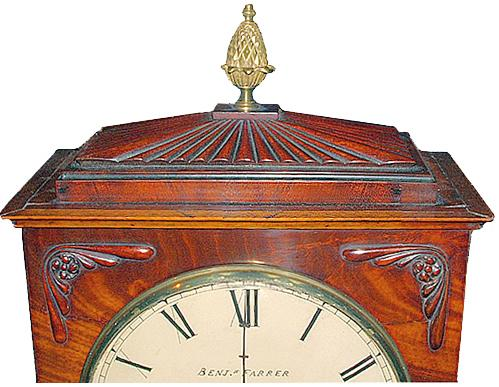 An 1829 English Regency Mahogany Mantel Clock 2608