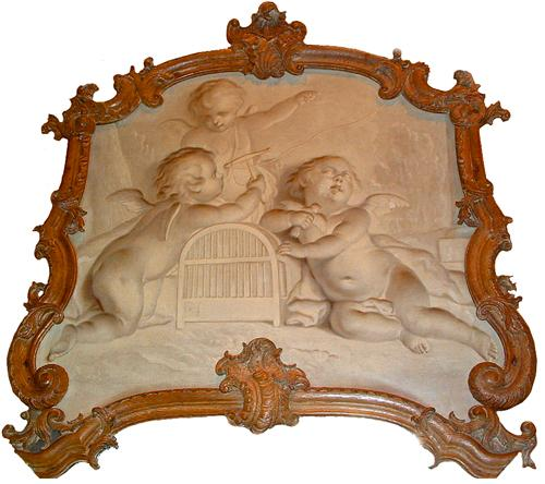 An 18th Century Dutch Louis XV Carved Oak Trumeau Mirror No. 2646