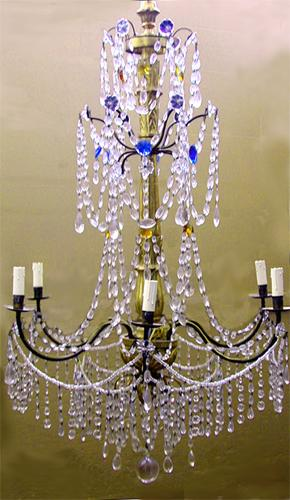 A Genovese Parcel-Gilt and Crystal Chandelier No. 1614