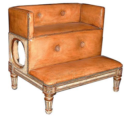 A Louis XVI Style Parcel-Gilt and Polychrome Prie-Dieu No. 539