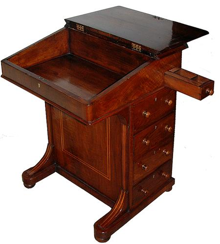 A Classic 19th Century English Walnut Davenport No. 2658