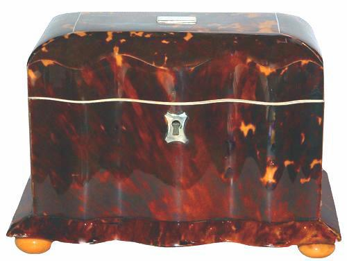 An English 19th Century Tortoiseshell Tea Caddy of Unusual Undulating Form, 2699