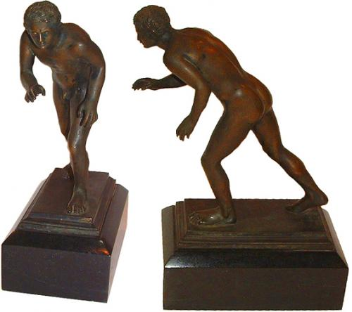 A Continental Bronze Nude of a Neoclassical Wrestler No. 2695