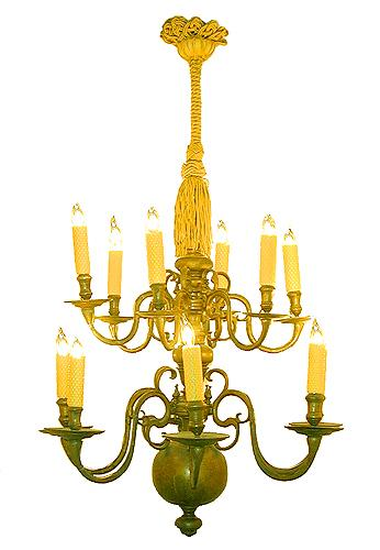 An Elegant 18th Century Dutch Twelve-Light Chandelier No. 2228