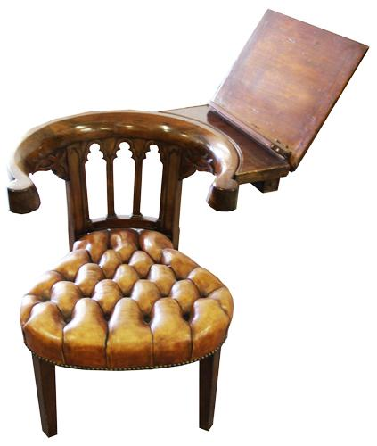 An Unusual 19th Century English Reading Chair No. 2502