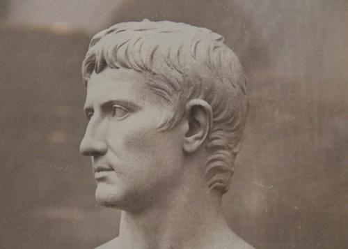 A 19th Century Italian Lithograph: Bust of Augustus Caesar No. 1501