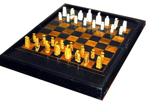 A Fine 19th Century Chess and Backgammon Board No. 1391