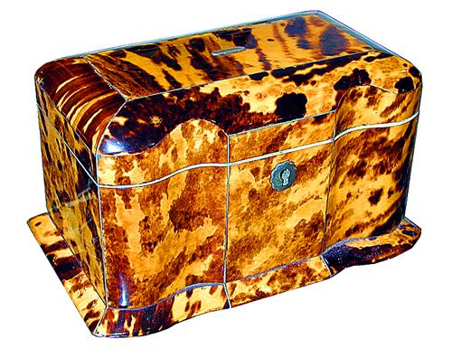 A 19th Century English Regency Tortoiseshell Tea Caddy No. 1226