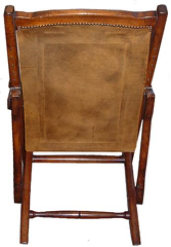 A Late 19th Century Anglo Indian Colonial Mahogany Folding Veranda Chair No. 2595
