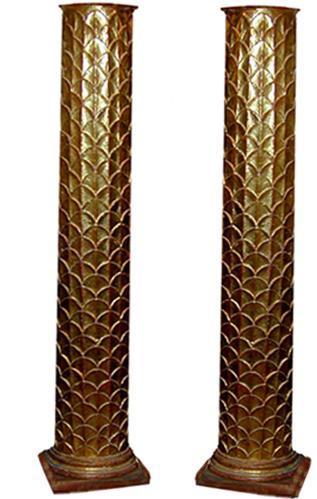 A Pair of 18th Century Italian Giltwood Columns No. 690