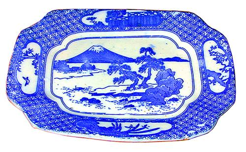 A Blue and White 19th Century Japanese Porcelain Dish No. 1142