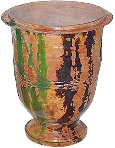 A 19th Century French Parcel Drip Glazed Terra Cotta Jardinière No. 2803