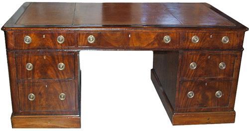 An English Regency Mahogany Partners Desk No. 2836