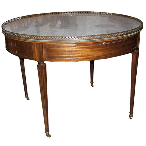 A Fine French Louis XVI Mahogany Bouillotte Table No. 1424