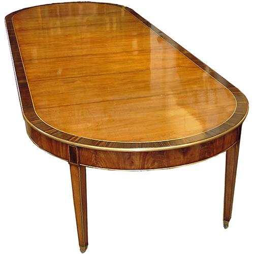 An Italian Louis XVI Mahogany and Rosewood Dining Table No. 2842