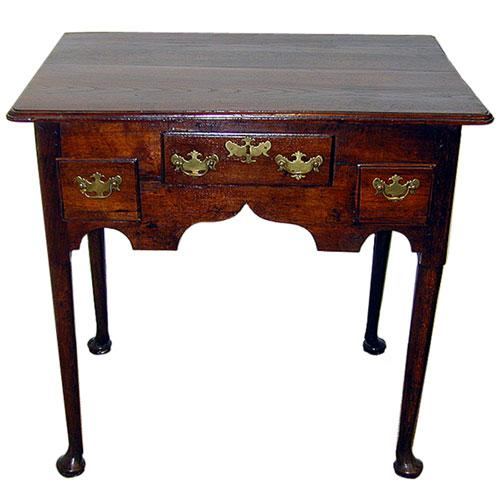 An 18th Century English Queen Anne Oak Lowboy No. 579