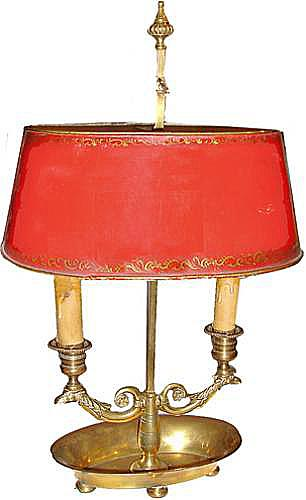 A Diminutive 19th Century French Bouillotte Lamp No. 2876