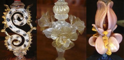 A Set of Seven Murano Crystal Stemware Goblets No. 2906