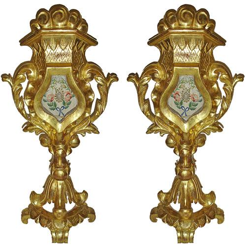 A Pair of Unusual 19th Century Italian Ecclesiastical Reliquaries No. 2935