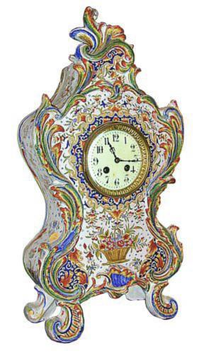 A 19th Century Louis XVI Style Faience Mantel Clock No. 1153