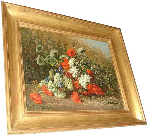 A 19th Century Oil on Canvas Floral Still Life painting No. 3140