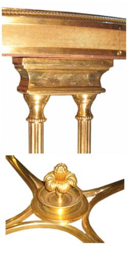 A Pair of 19th Century Unusual Neoclassical Brass Gueridons No. 3166