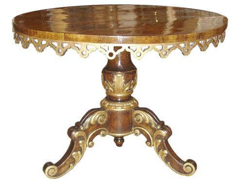 An 18th Century Marquetry and Parcel Gilt Venetian Center Table No. 3185