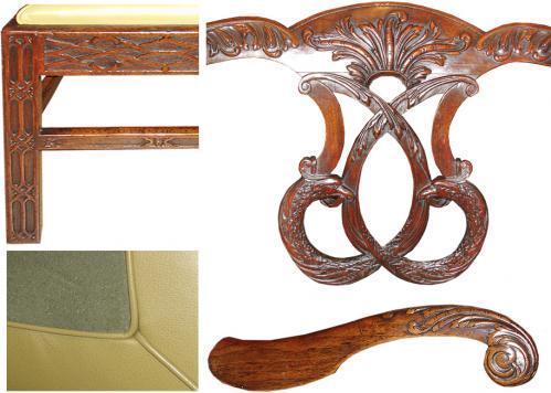 A 19th Century Irish Mahogany Chippendale Armchair No. 3193