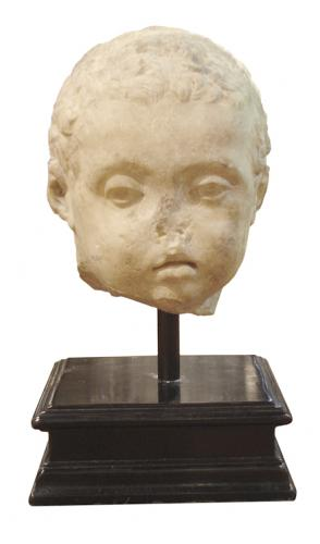 A 200 A.D. Roman Marble Portrait Head of a Child No. 3204
