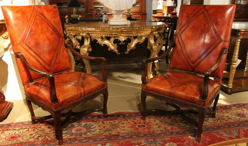 A Pair of French 18th Century Walnut Régence Fauteuils No. 2889