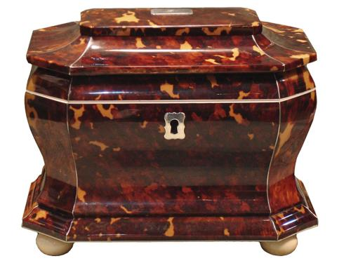 A 19th Century English Regency Tortoiseshell Tea Caddy No. 3247