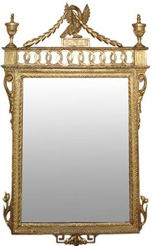 A Late 18th Century Italian Neoclassical Giltwood Mirror No. 3236