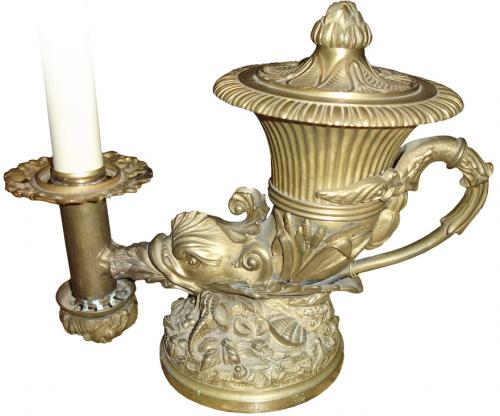 A 19th Century Brass French Oil Lamp No. 3241