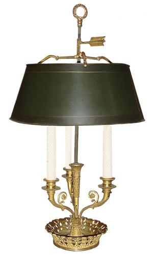 A 19th Century French Bouillotte Lamp No. 3249