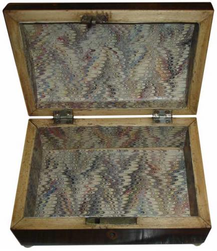 A Small 18th Century Rosewood Jewel Box No. 3284