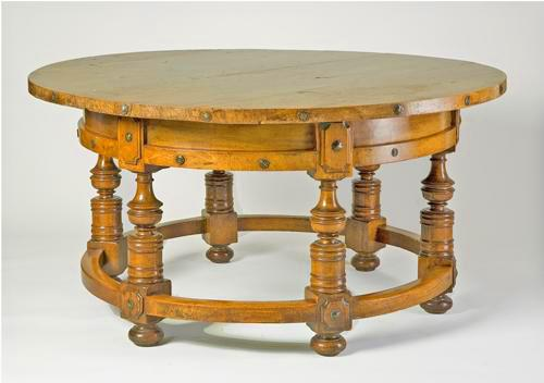 "The ""Benedictine"" Rusticated Country Breakfast or Center Table No. 799"
