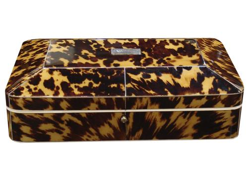 A 19th Century Tortoiseshell Jewelry Box No. 3318