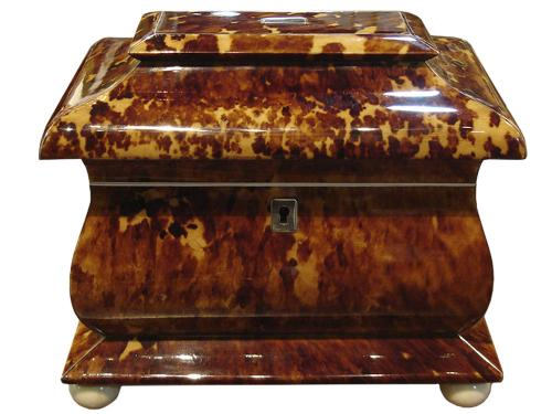 A 19th Century Regency Tortoiseshell Tea Caddy No. 3319